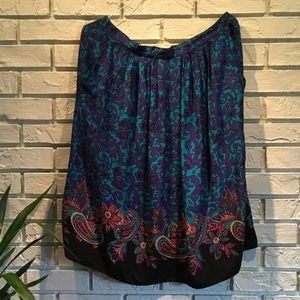 Sag Harbor Skirt Size 20 Plus Sized Multi Color